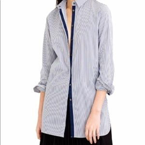 J Crew endless shirt in blue stripe